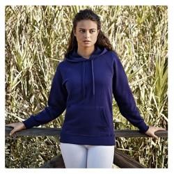 Sweatshirt - Lightweight Hooded - Fit Fruit of the Loom/Woman