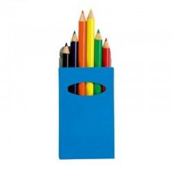 Colour Pencils - Set of 6 - Blue Box