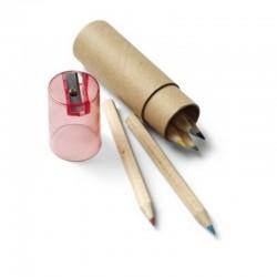 Colour Pencils - Set of 6 + Sharpener