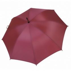 Umbrella - OXFORD - With Wooden Handle - BURGUNDY
