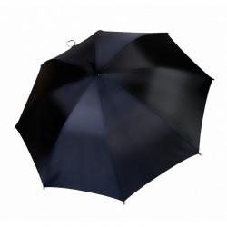 Umbrella - OXFORD - With Wooden Handle - BLACK
