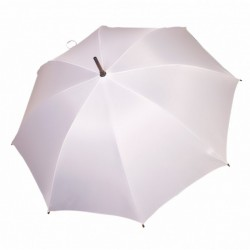 Umbrella - OXFORD - With Wooden Handle - WHITE