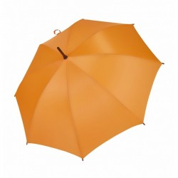 Umbrella - OXFORD - With Wooden Handle - ORANGE