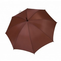 Umbrella - OXFORD - With Wooden Handle - BROWN