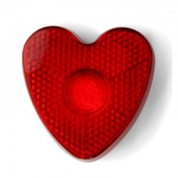 Reflection ,,Heart'' with Clip and Flashing Light