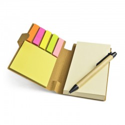Eco Notebook with Pen and Sticky Notes
