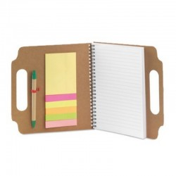 Eco Notebook with Sticky Notes and Pen