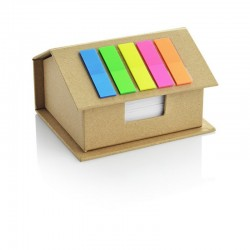 Cottage - Eco container with mini sheets and sticky notes